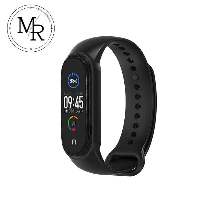 MR 小米手環5單色運動防水矽膠替換錶帶