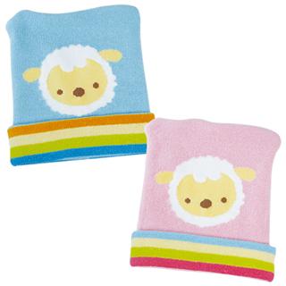 任【優生】喜羊羊彈性嬰兒帽(藍)