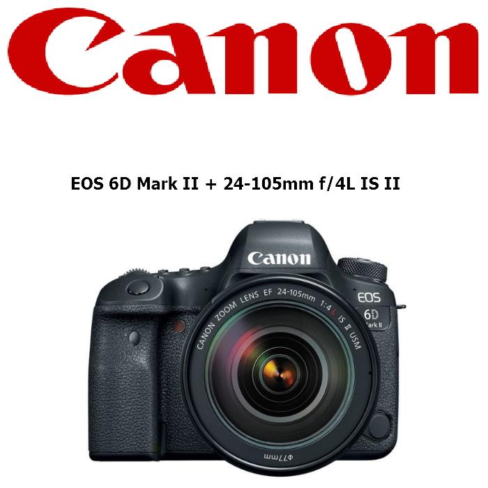 【Canon】EOS 6DII 24-105mm f/4L IS II USM 變焦鏡組 6D2 / 6D MARK II (公司貨)贈SD64G/90M