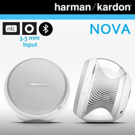 《Harman Kardon》2.0聲道時尚立體聲藍芽喇叭-白色 NOVA
