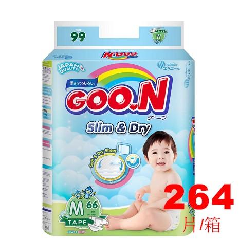 GOO.N日本大王 國際版紙尿褲 M66片x4包