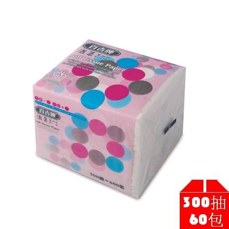 百吉牌 溫柔單抽式衛生紙300抽x60包/箱