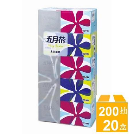 五月花 優質面紙200抽x5盒x4串/組