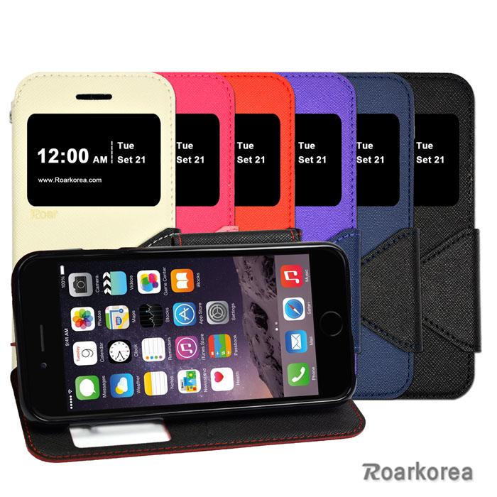【Roarkorea】Apple iPhone 6 開框磁扣式時尚翻頁質感皮套