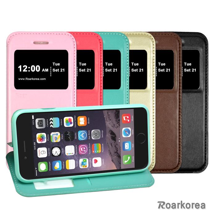【Roarkorea】Apple iPhone 6 / 6S 開框隱藏磁扣式時尚翻頁質感皮套