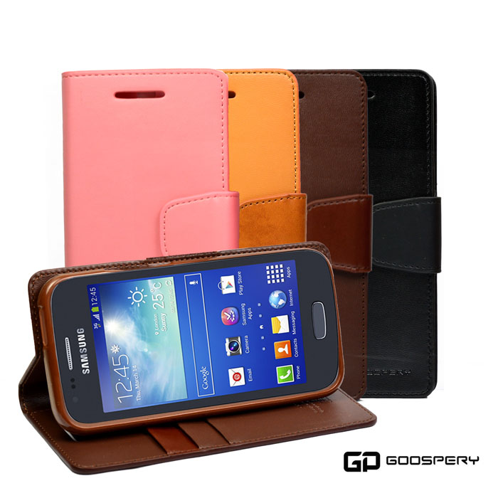 【GOOSPERY】Samsung Galaxy Ace 3 ( S7270 ) 小牛皮磁扣式翻頁皮套黑色