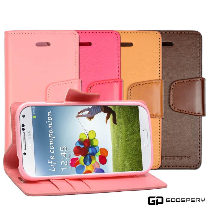 【GOOSPERY】Samsung Galaxy S4 小牛皮磁扣式翻頁皮套