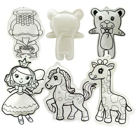 DIY自畫可水洗充氣娃娃-4款充氣/娃娃/布偶/吊飾第二代 長頸鹿