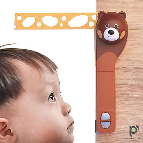 【熊熊一番】 活動式創意電動身高尺/兒童身高測量器