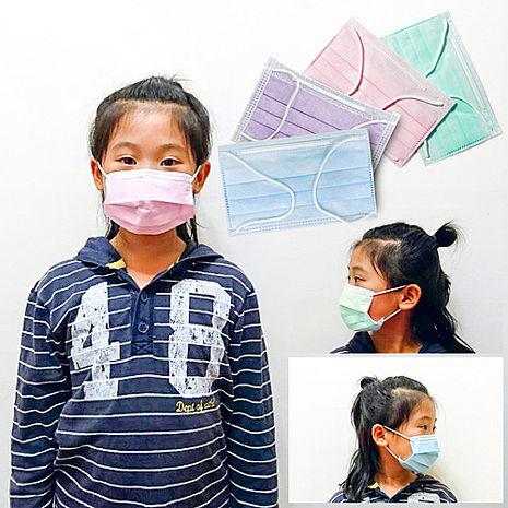【台灣製造】微笑週記兒童口罩/ 三層式過濾防塵微粒口罩(15片/盒)粉