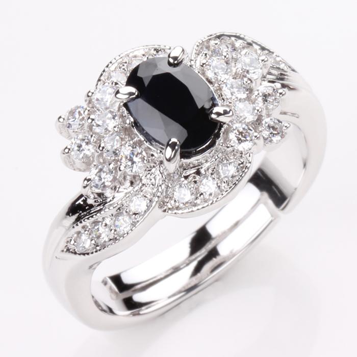 【雅紅珠寶】浪漫愛情天然1克拉黑藍寶石戒-活圍設計