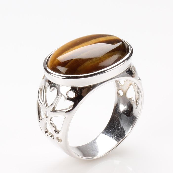 【雅紅珠寶】敬業樂群天然黃金虎眼石戒指