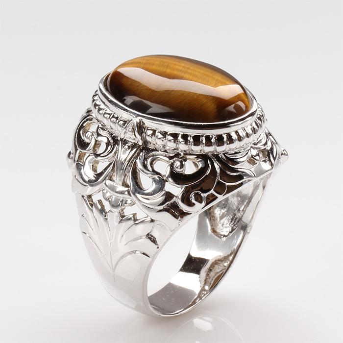 【雅紅珠寶】開創機運天然黃金虎眼石戒指
