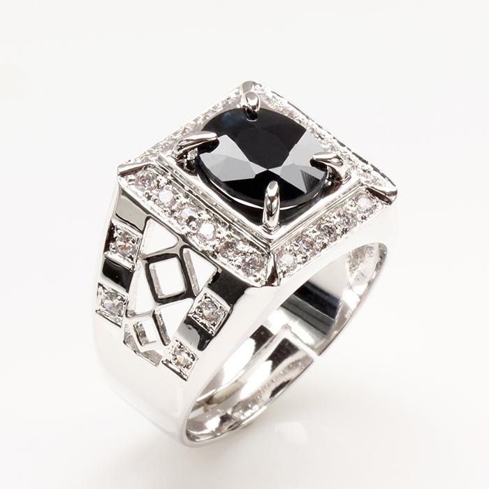 【雅紅珠寶】真龍天子天然3克拉黑藍寶石戒-活圍設計