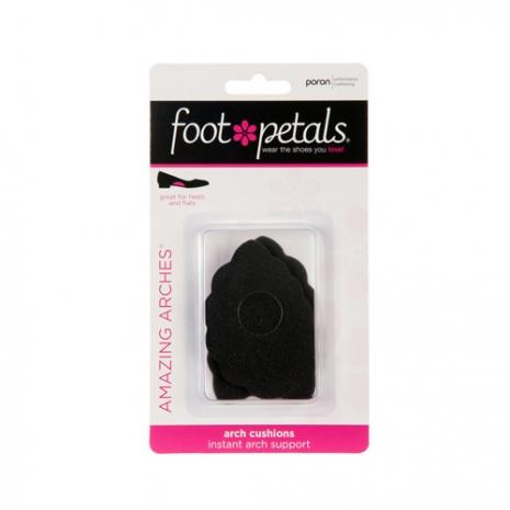 美國Foot Petals時尚舒適鞋墊-足弓墊(黑色) FP71001-001※鞋墊屬個人衛生用品一經拆封恕不退換貨哦