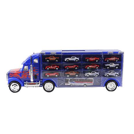 超級貨櫃車手提收納組(附13台合金小車)