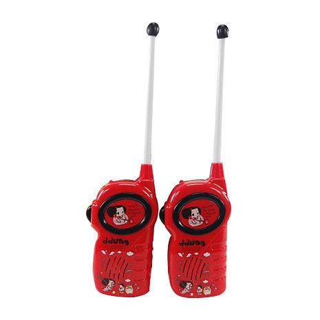 【ddung 韓國冬己娃娃】兒童無線對講機(紅色)(有效距離約30公尺)