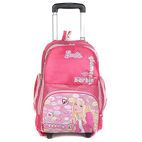 芭比Barbie 雙肩公主拉桿書包 (紅色)