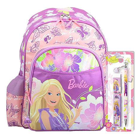 芭比Barbie 花開富貴書包文具組