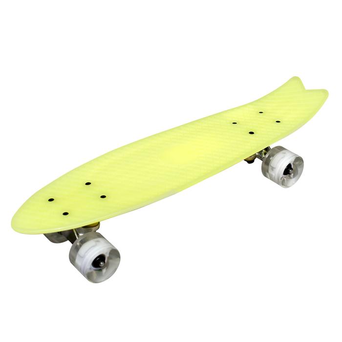 TECHONE S9 23吋夜光交通板 滑板 小魚板橘