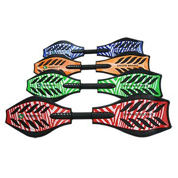 【TECHONE】S10 ABS基礎板 PU發光輪 休閒運動蛇板紅