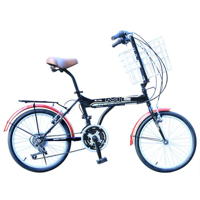 【BIKEONE】M6 LITE 20吋21速 城市樂活腳踏車/寵物車黑