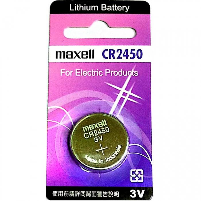 MAXELL CR2450 一顆 手錶電池 鈕扣電池 鋰電池-居家日用.傢俱寢具-myfone購物