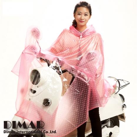 【日系時尚】點點加長版 - 斗篷式全罩雨衣 〈1入〉
