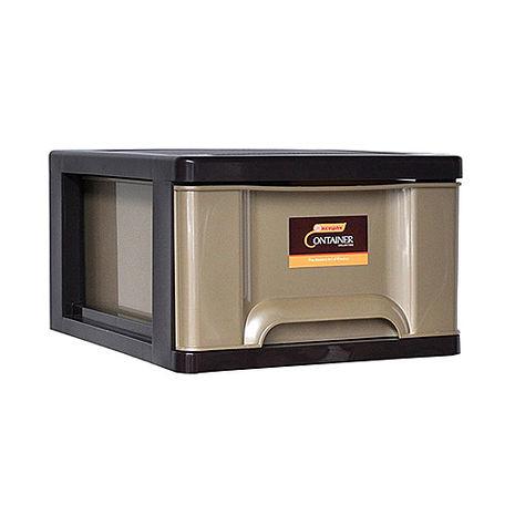 【ESONA易收納】時代單層收納整理箱(單層27公升) 3入組