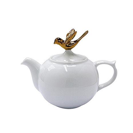 【Multiple Choice 文創茶具】皇家金鳥白瓷茶壺 飛翔版 1000ml