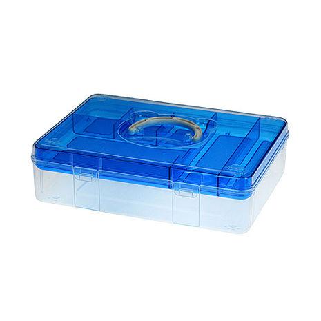 【ESONA易收納】FUN貝兒手提箱 - A4粉藍