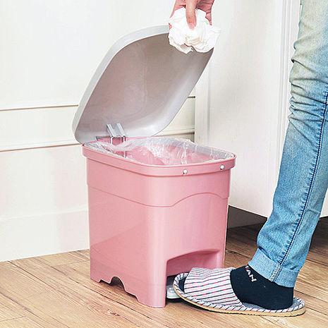 【nicegoods】吉利潔腳踏式窄型垃圾桶10L粉紅