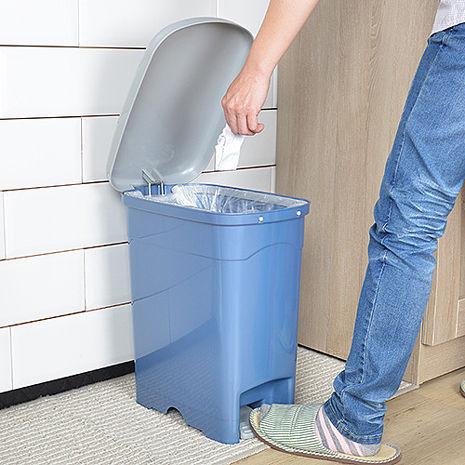 【nicegoods】吉利潔腳踏式窄型垃圾桶20L粉紅