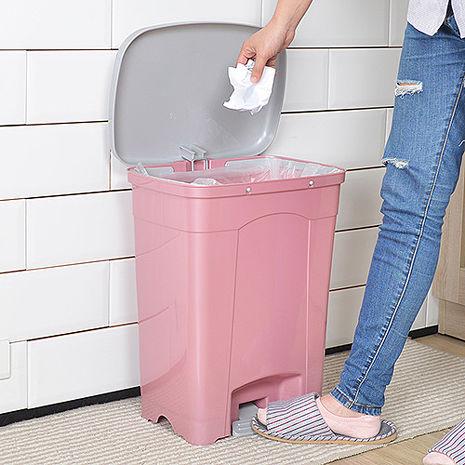 【nicegoods】吉利潔腳踏式垃圾桶25L粉藍