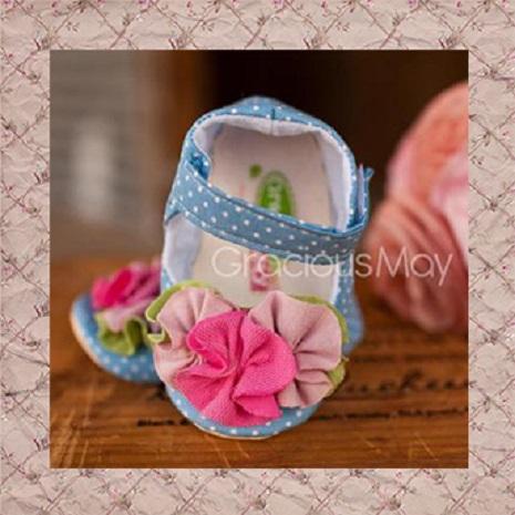 【瑞瑞比歐美童裝】美國Gracious May手工寶寶鞋/童鞋/學步鞋(藍星典藏)18-24m