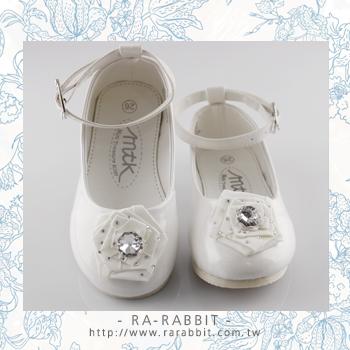 【瑞瑞比歐美童裝】澳洲MTK 大小童鞋/童鞋/皮鞋/包鞋 (純白鑲鑽)Eur36