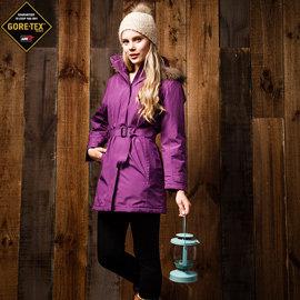 【JORDON】女單件式GORE-TEX R PERFORMANCE SHELL 羽絨長大衣(加碼送GORE-TEX棒球帽+雙面羽絨西裝背心)卡其 - XS