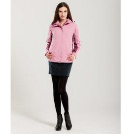 【JORDON】 休閒簡約‧ 女款 GORE-TEX+鵝絨+刷毛 配色‧ 三件式外套 加送全身保暖組灰玫 - S