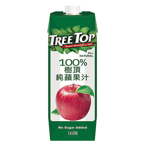 《TreeTop》樹頂蘋果汁1000mlx10入
