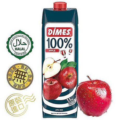 Dimes地美100%蘋果綜合果汁(1000ml x 6入)