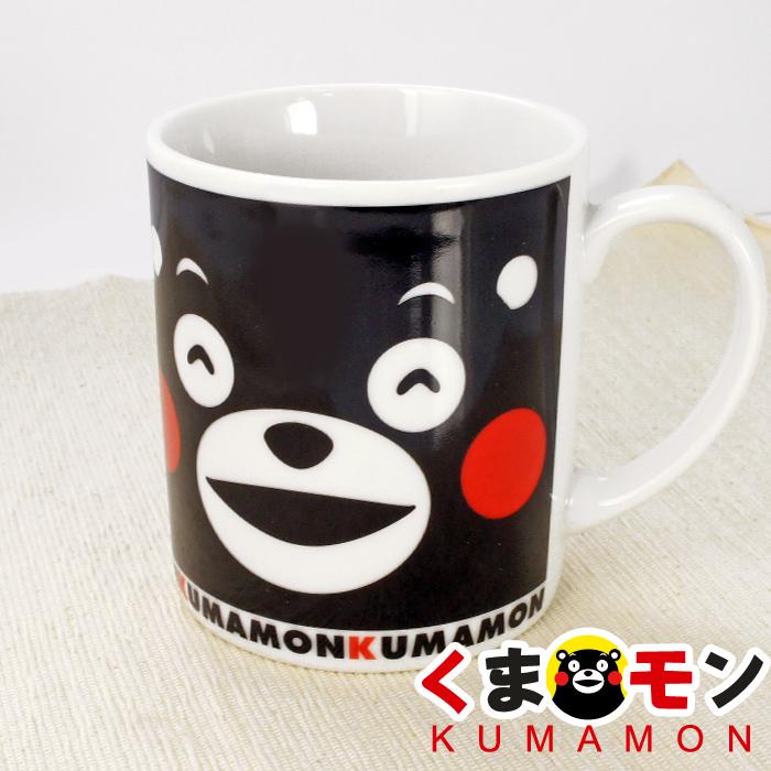 【酷ma萌 熊本熊 kumamon】笑臉 馬克杯 (黑/粉/藍)