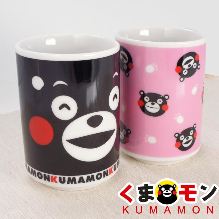 【酷ma萌 熊本熊 kumamon】日式茶杯 /茶碗蒸杯/抹茶/玄米茶杯 (黑/粉)