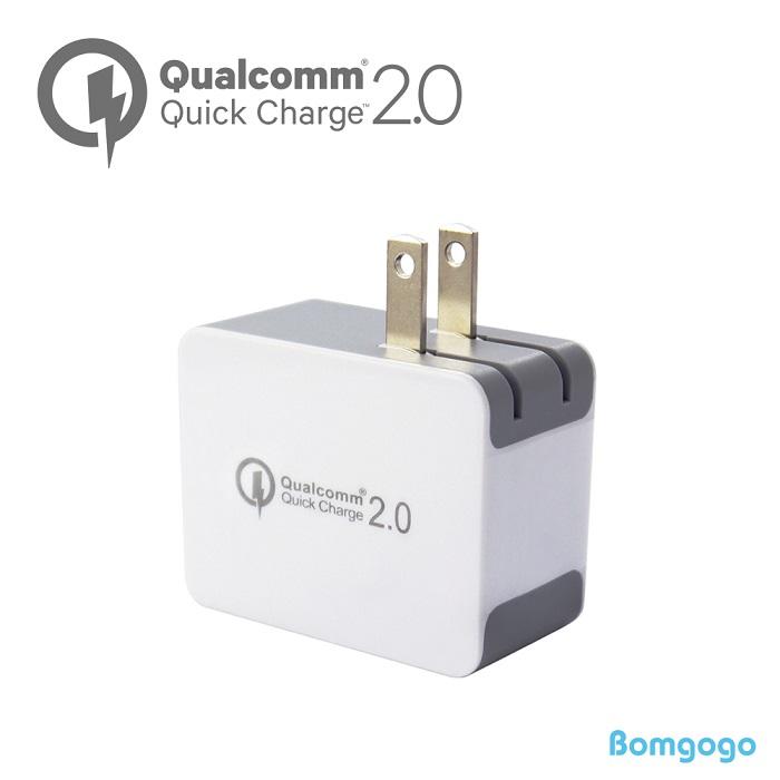 Bomgogo Quick Charge2.0認證 USB智能快速電源供應器(原廠認證12V供應器)