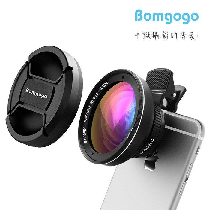 Bomgogo Govision L3 霸氣進化超廣角微距手機大鏡頭 零畸變無變形 類單眼獨家設計