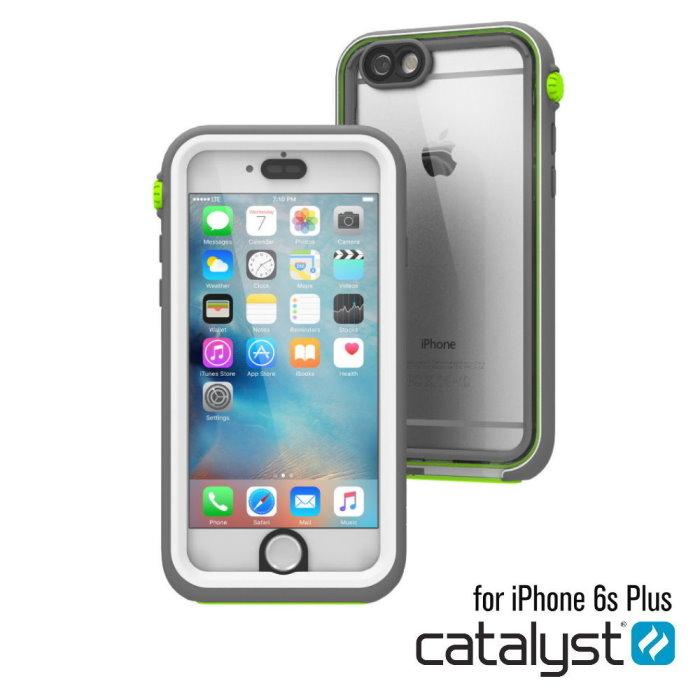 catalyst Apple iPhone6Plus/6S Plus 5.5吋專用 IP68 防水軍規防震防泥超強保護殼 清爽白綠