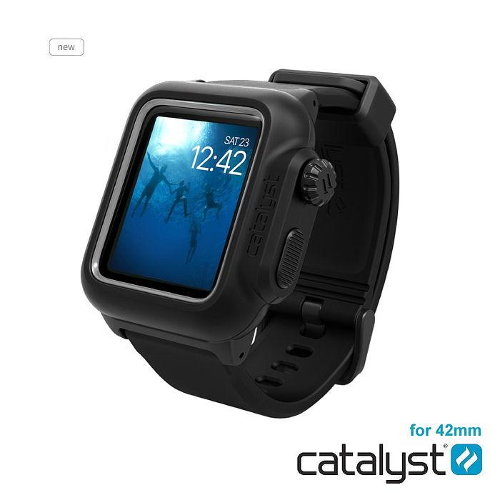 catalyst Apple Watch 42mm 第二代 專用 IP68防水軍規防震超輕量保護殼 (內附矽膠錶帶)簡約黑
