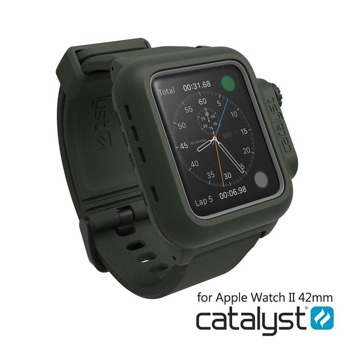 catalyst Apple Watch 42mm 第二代 專用-軍綠色 IP68防水軍規防震超輕量保護殼 (內附矽膠錶帶)