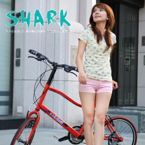 【AiBIKE】 SHIMANO 20吋21速 鯊魚小徑車 二代進階款 小徑車珍珠白