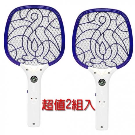 【勳風】USB充電式小黑蚊剋星捕蚊拍 (2入) HF-833U