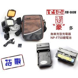 ROWA‧JAPAN RW-900W LED攝影燈 贈:F750(F770)電池x1、無車充充電器x1